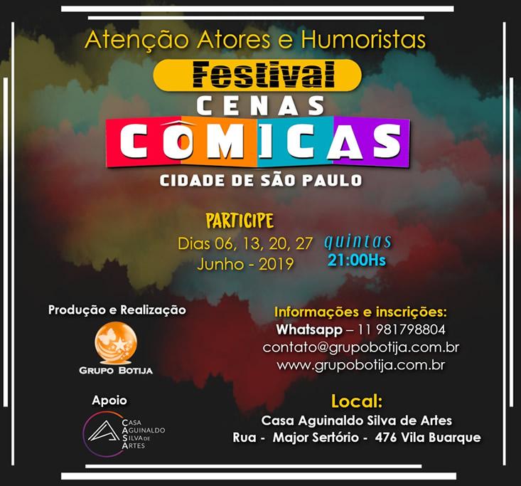 Permalink to: FESTIVAL DE CENAS  CÔMICAS SP